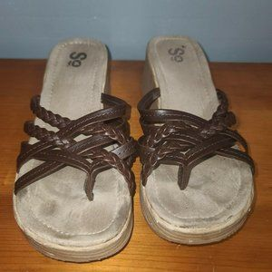 SO sandals brown strap size 7